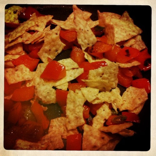 pepper and tortilla chips