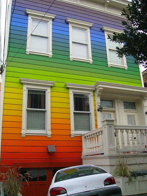 rainbow house on Clipper Street