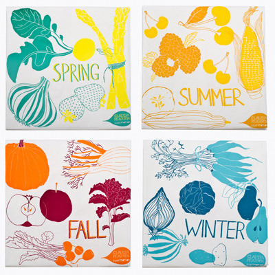 Claudia Pearson four-seasons-tea-towels
